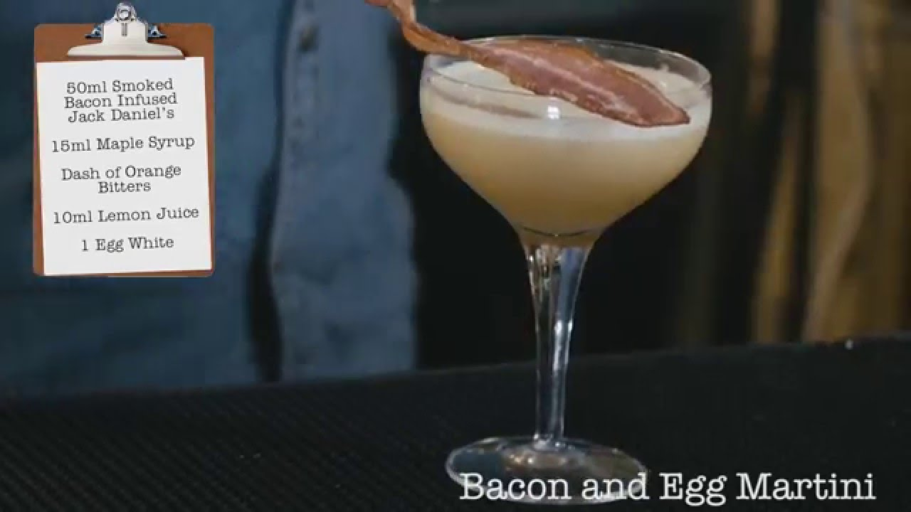bacon and egg martini cocktail diy london cocktail club youtube