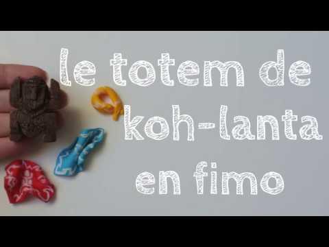 Fabulous tuto fimo - le totem de koh-lanta - YouTube UF09