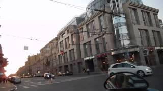 2 Сложные проезды перекрестков в Санкт петербурге.