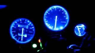 Blue LED dash light for CBR250RR