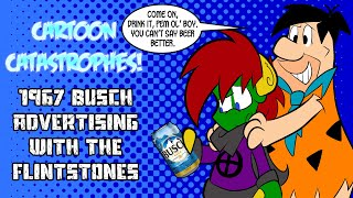 Cartoon Catastrophes - 1967 Busch Advertising With The Flintstones