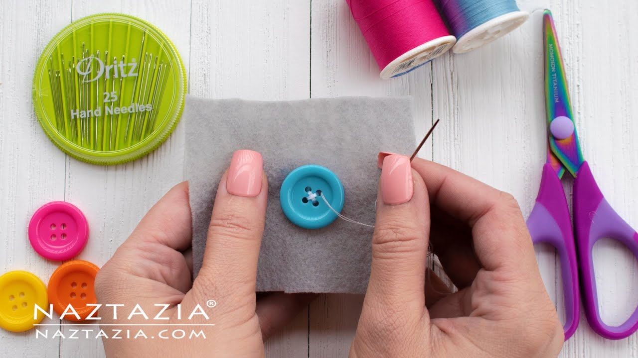 How to SEW by HAND for BEGINNERS  - Learn BASIC SEWING Skills