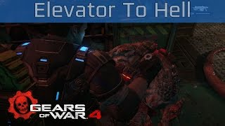 gears of war 4 act 3 chapter 5 elevator to hell walkthrough hd 1080p