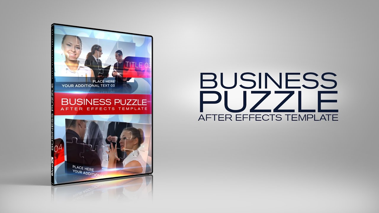 business puzzle after effects templates after effects projects youtube. Black Bedroom Furniture Sets. Home Design Ideas