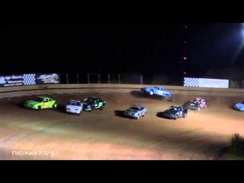 TR Speedway Matt Gilbert FWD Heat and Main 7/3/15