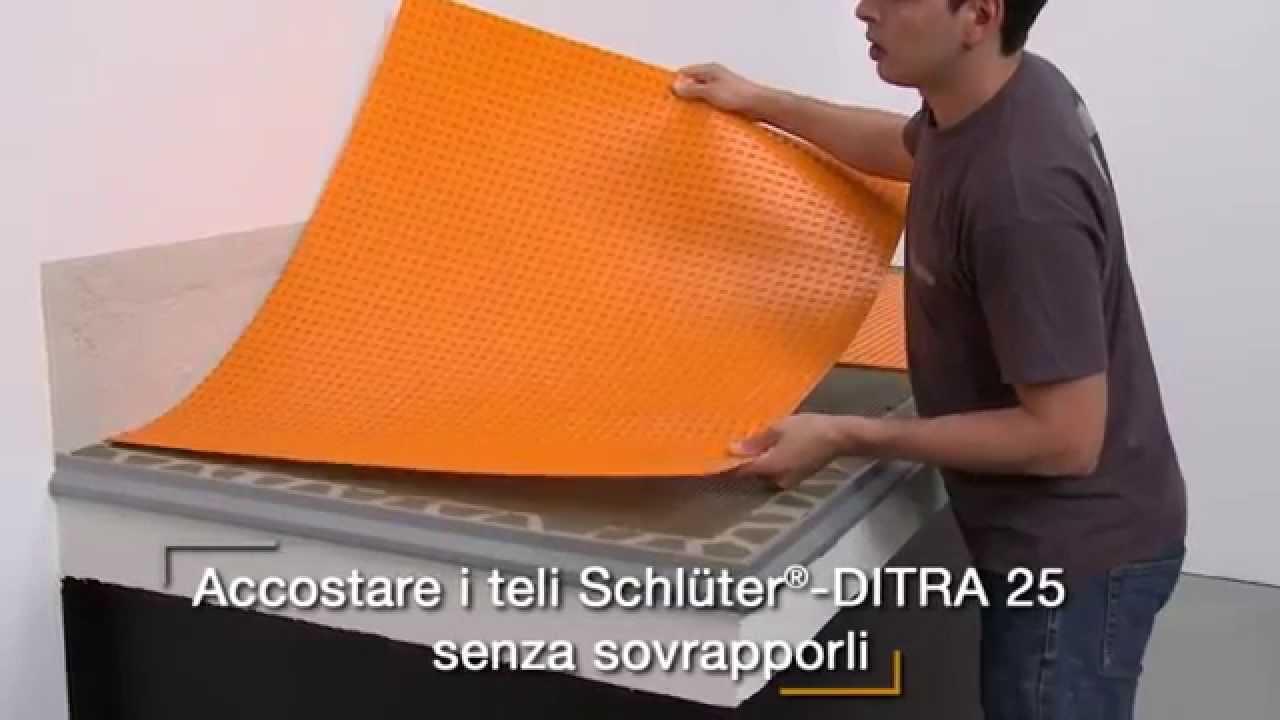 realizzazione balcone con schl ter ditra e schl ter bara. Black Bedroom Furniture Sets. Home Design Ideas