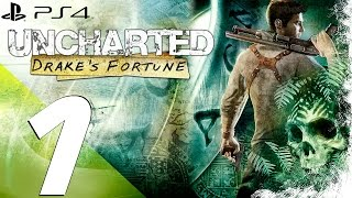 Uncharted Drake's Fortune PS4 - Walkthrough Part 1 - Prologue & Review [1080p 60fps]