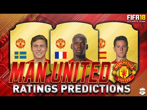 FIFA 18 | MANCHESTER UNITED PLAYER RATINGS PREDICTIONS | FT. POGBA, LINDELOF & RASHFORD - FUT 18