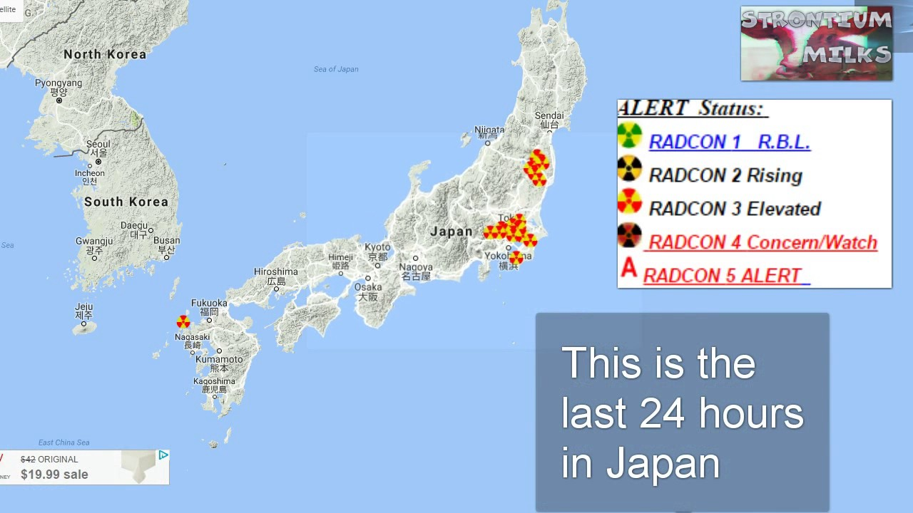 EPA Shuts Off Rad Net As Radiation In Japan Rises Beta Gamma DOWN - Japan map 2017