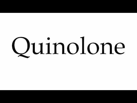 How to Pronounce Quinolone