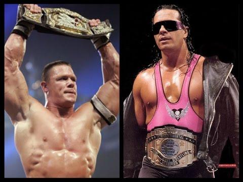 Wwe 2k16 Bret Hitman Hart Vs John Cena Wwe Championship Youtube