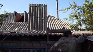 ремонт кровли(Ремонт крыши переделывание с четырёх скатной в двух скатную с использованием ветрозащитной паропроницае..., 2015-06-26T15:18:48.000Z)