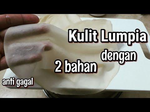 Cara baru membuat kulit Lumpia-Kulit risoles hanya dengan 2 bahan