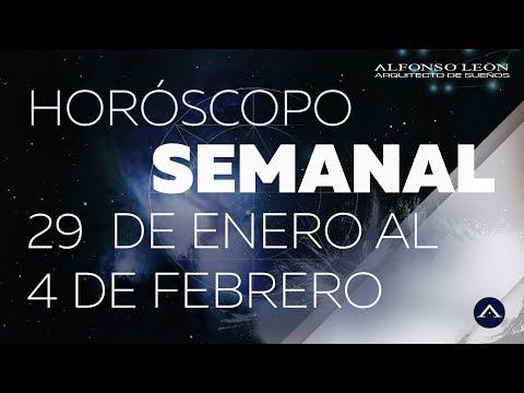 HORÓSCOPO SEMANAL | 29 DE ENERO AL 4 DE FEBRERO  | ALFONSO LEÓN ARQUITECTO DE SUEÑOS