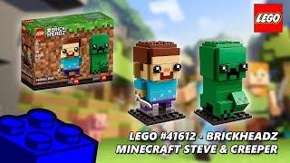 Lego #41612 Minecraft Steve & Creeper Brickheadz Review