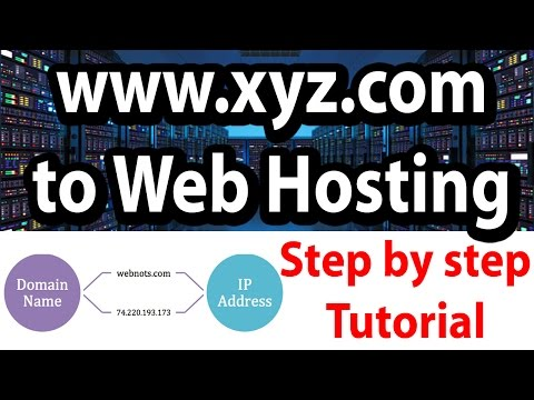 How to link domain name to web hosting | Step by step tutorial