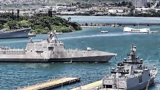 USS Independence (LCS 2) Arrives At Pearl Harbor Naval Base
