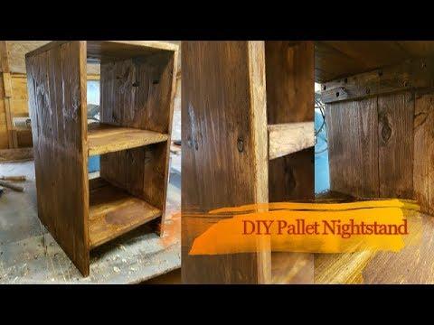 DIY Pallet Nightstand