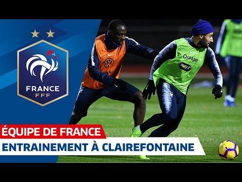 Les Bleus à l'entraînement à Clairefontaine, Equipe de France I FFF 2018
