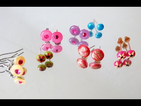 Image result for hot glue earrings