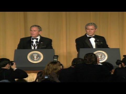 2006, Bush and impersonator crack jokes