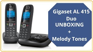 gigaset Cordless phone(Gigaset AL415 A Duo) Unboxing and Melody ring tones