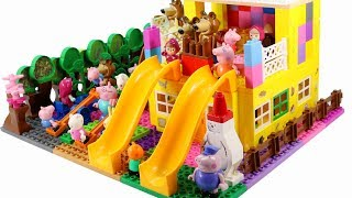Peppa Pig Blocks Mega House LEGO Creations Sets With Masha And The Bear Legos Toys For Kids #28