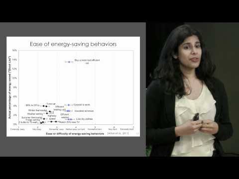 Shahzeen Attari: Human behavior and energy consumption: Understanding decisions about energy