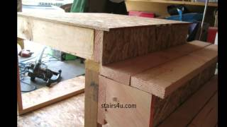 You Must Compensate For 1 Inch Step Overhang - Stair Building, Landings And Floors