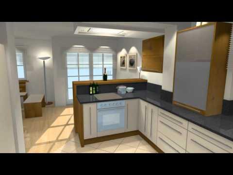 Inselkuchen virtueller film 3d visualisierung 3d for Inselküchen