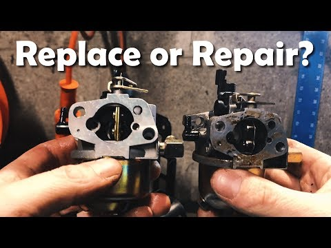 BROKEN!! Replace | Repair the Carburetor on a Craftsman Snow Blower | How To - DIY