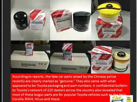 Counterfeit Car Parts Warn Auto Repair Customers to Stay Alert