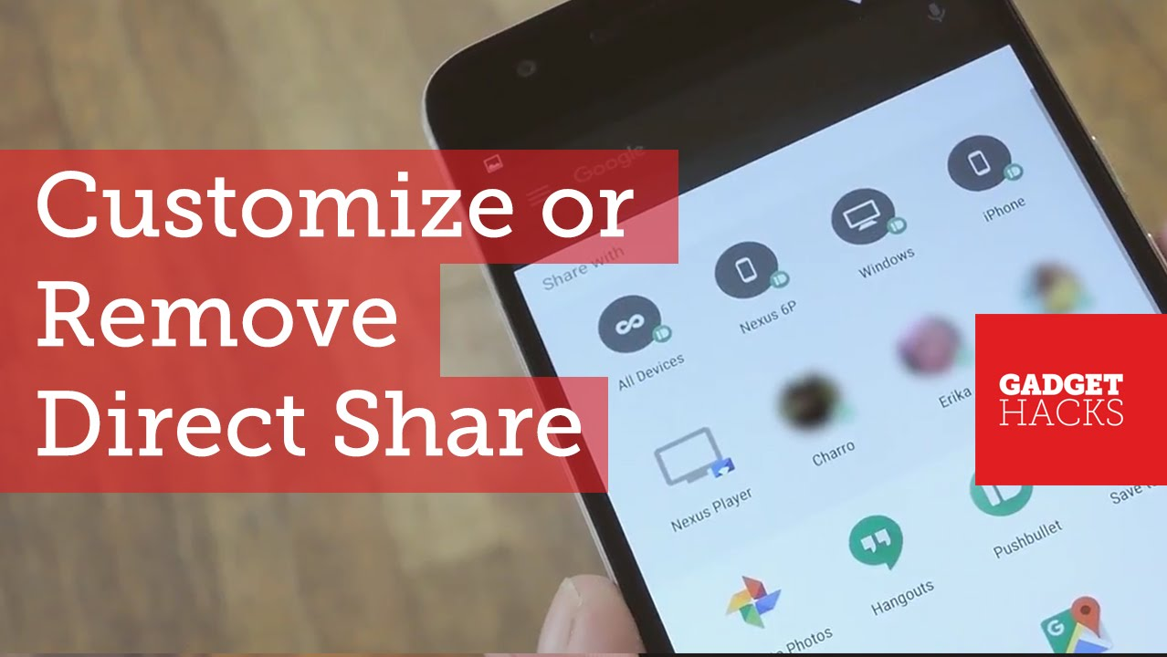 Customize or Remove Direct Share Targets in Android Marshmallow [How-To]