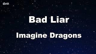 Bad Liar - Imagine Dragons Karaoke 【No Guide Melody】 Instrumental