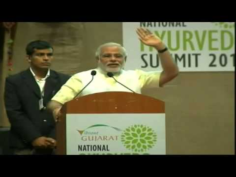 Narendra Modi addressing National Ayurveda Summit 2014