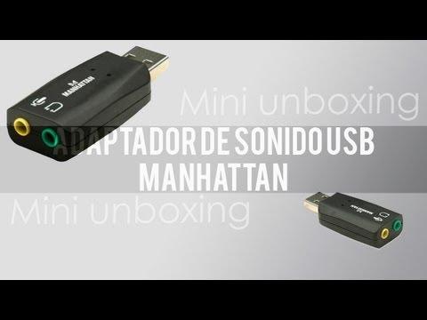 Mini unboxing adaptador de sonido USB | Manhattan