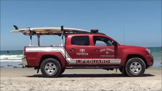 Lifeguard Truck On The Beach In California