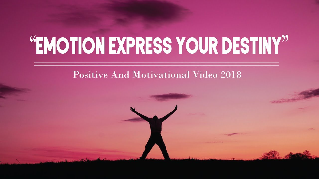 Emotion Express Your Destinymotivational Quotespositive