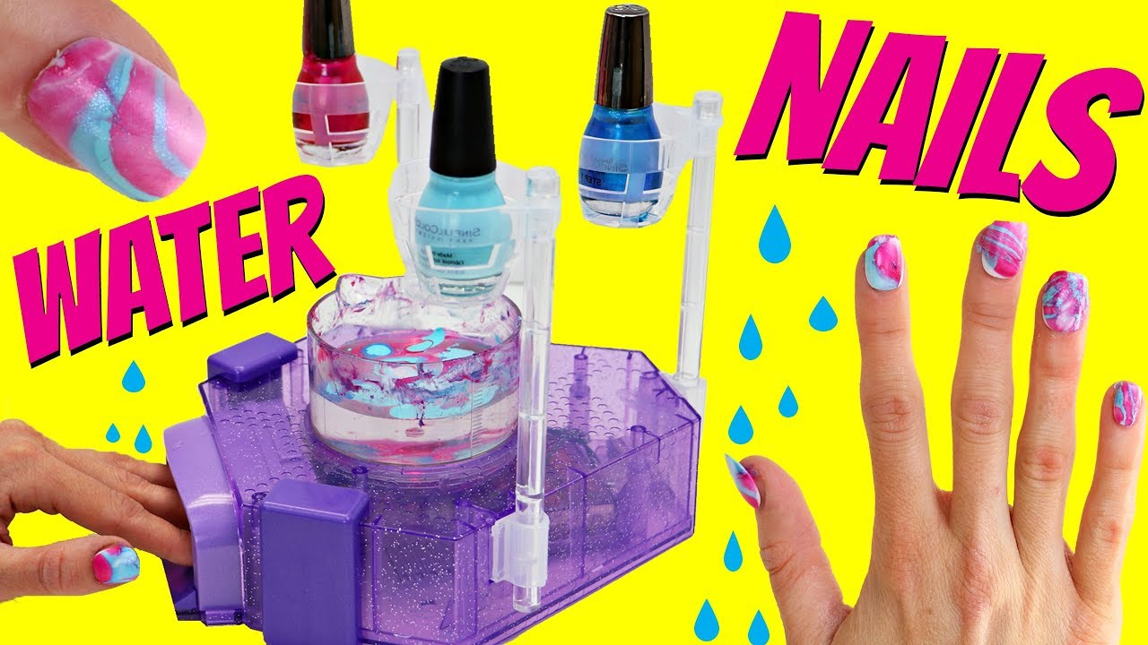 Awesome Water Nail Kit Diy Tie Dye Colored Nail Art For