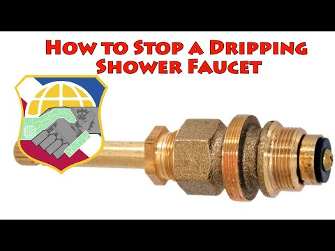 How to Stop a dripping shower faucet - repair leaky bathtub water tap bathroom