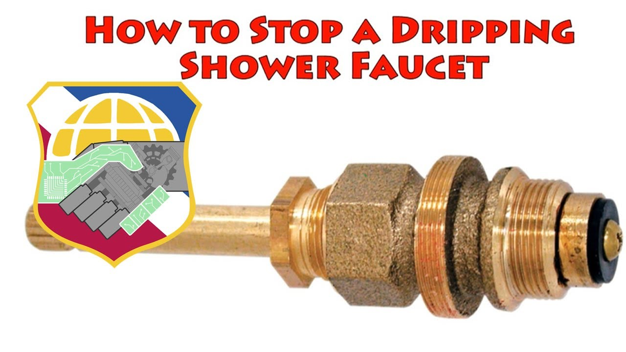 How to Stop a dripping shower faucet - repair leaky bathtub water ...