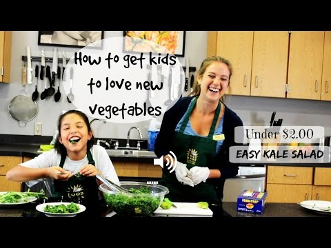 How To Get Kids to Like New Vegetables | Kid-Friendly Kale Salad Recipe