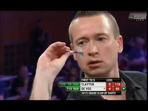 Geert de Vos nearly breaking Phil Taylor's record - 2015 PDC Grand Slam