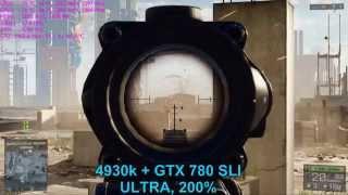 Мнение о GTX 780 | BF4 Ultra 200% + 780 SLI = FAIL