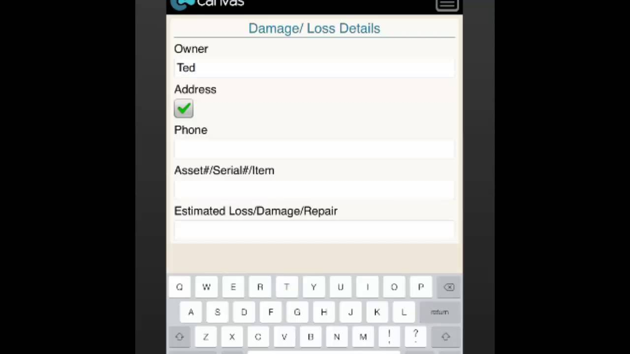 canvas utilities incident reporting form mobile app