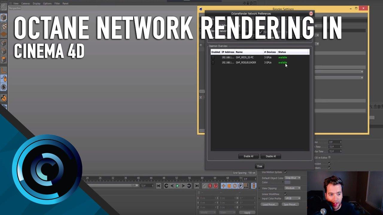 Octane Network Rendering in Cinema 4D