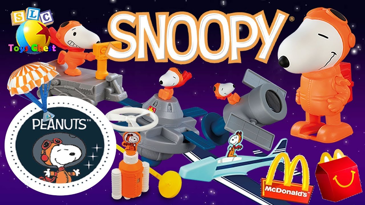 2019 Snoopy Peanuts Nasa Mcdonalds Happy Meal Toys Complete