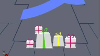 Funny Animated E-cards !!! Christmas Angel Magic Greeting Ecard.