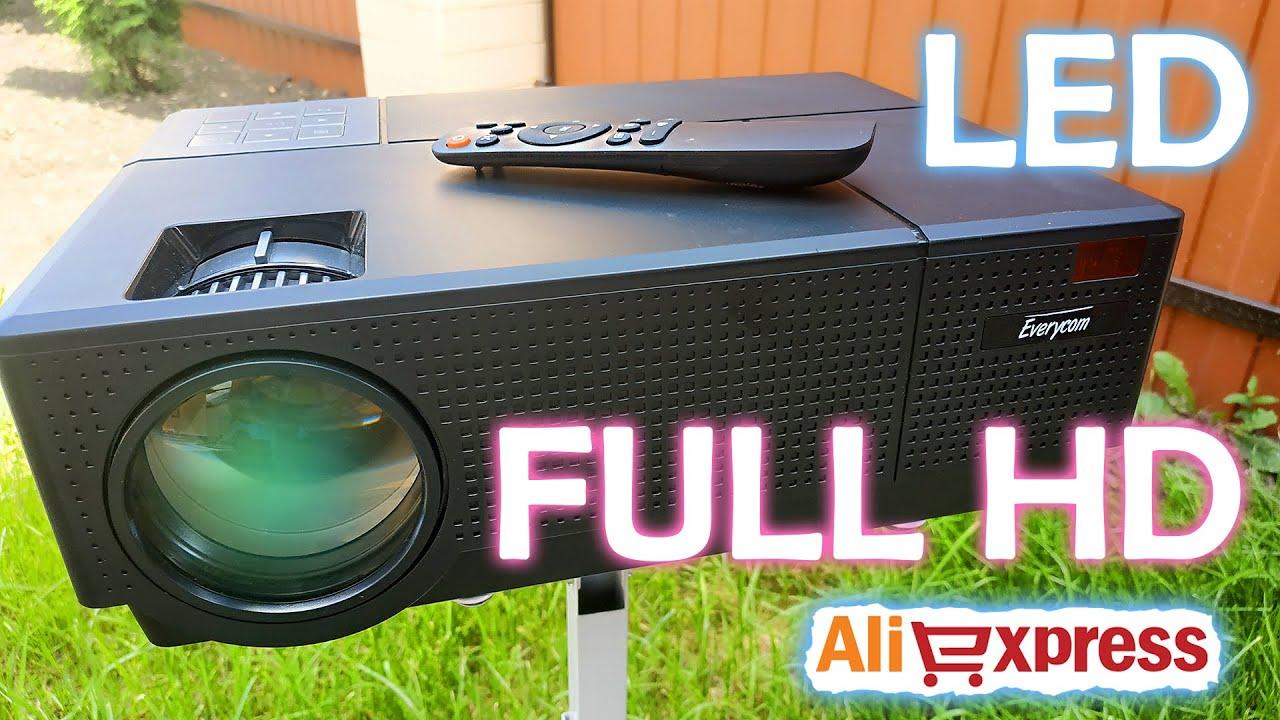 FULL HD LED ПРОЕКТОР с ALIEXPRESS. EVERYCOM M9 1080P!