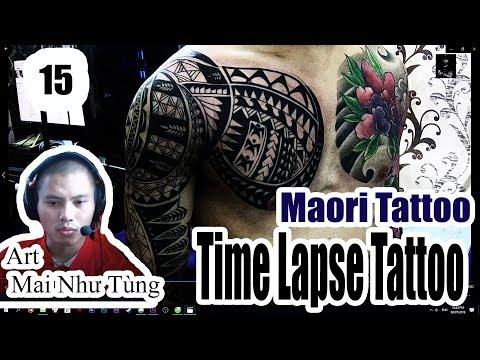 Hình xăm hoa văn maori kín cánh tay cực đẹp ( maoritatoo fullhand freehand)